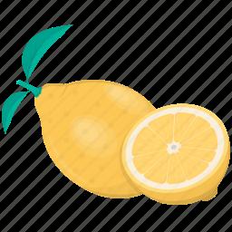 citrus, food, fruit, kitchen, lemon, meal, plant icon