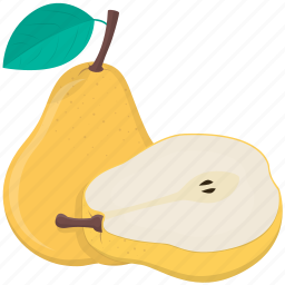 cooking, food, fruit, kitchen, meal, pear, plant icon