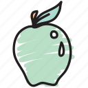 apple, food, fruit, granny smith icon