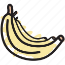 banana, bananas, food, fruit icon