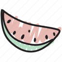 food, fruit, seeds, slice, watermelon icon