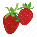 flavor, fruit, strawberries, strawberry icon