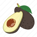 avocado, avocados, fruit, juice icon