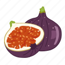 fig, figs, flavor, fruit icon