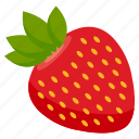 food, fresh, fruit, health, strawberry, vegetables icon