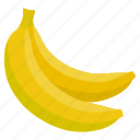 banana, food, fresh, fruit, health, vegetables icon