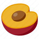 food, fresh, fruit, health, plum, vegetables icon