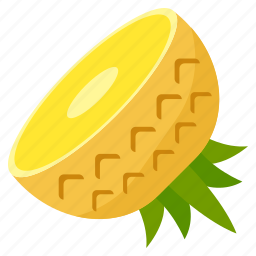 food, fresh, fruit, health, pineapple, vegetables icon