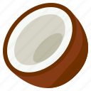 coconut, food, fresh, fruit, health, vegetables icon