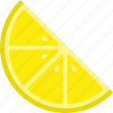 food, fruit, lemon, slice, yellow icon
