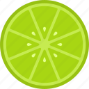 food, fruit, green, lime, slice icon