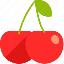 berry, bunch, cherry, food, fruit, healthy, leaf icon