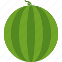 food, fruit, healthy, tropical, watermelon, whole icon