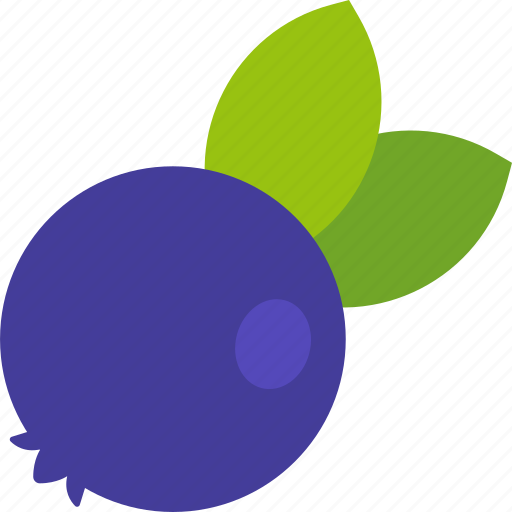 berry, blueberry, food, fruit, healthy, leaf icon