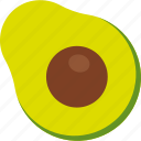 avocado, cut, food, fruit, seed, tropical icon