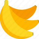 banana, bunch, food, fruit, tropical, whole icon