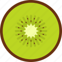 food, fruit, kiwi, seed, slice, tropical