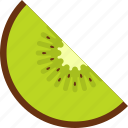 food, fruit, kiwi, seed, slice, tropical icon
