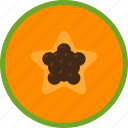 food, fruit, papaya, seed, slice, tropical icon