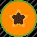 food, fruit, papaya, seed, slice, tropical icon