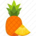 food, fruit, leaf, pineapple, slice, tropical, whole icon