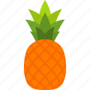 food, fruit, leaf, pineapple, tropical, whole icon