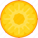 food, fruit, pineapple, slice, tropical icon