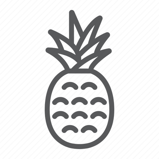 ananas, food, fruit, juice, pineapple, tropical, vitamin icon