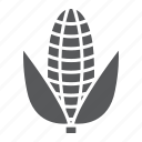 corn, diet, food, health, maize, vegetable, vegetarian icon
