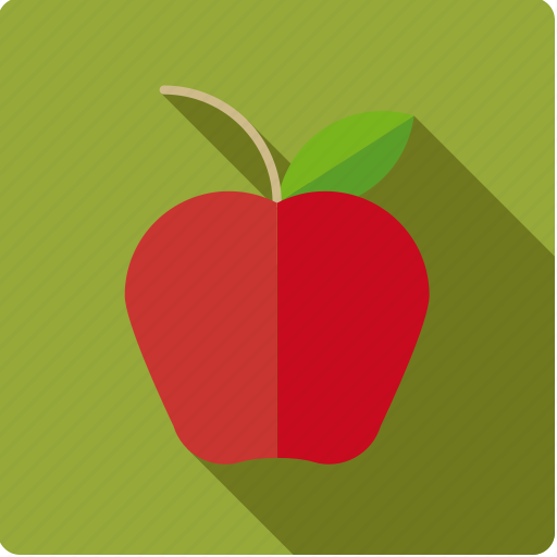 Apple, food, fruit, leaf, red icon - Download on Iconfinder