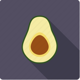 avocado, core, exotic, food, fruit, half, tropical icon