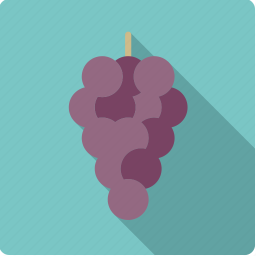 blue, food, fruit, grapes, wine icon
