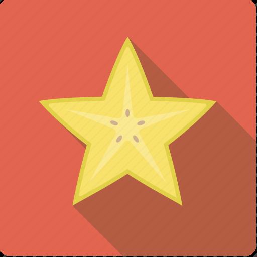 carambole, exotic, food, fruit, slice, star fruit icon