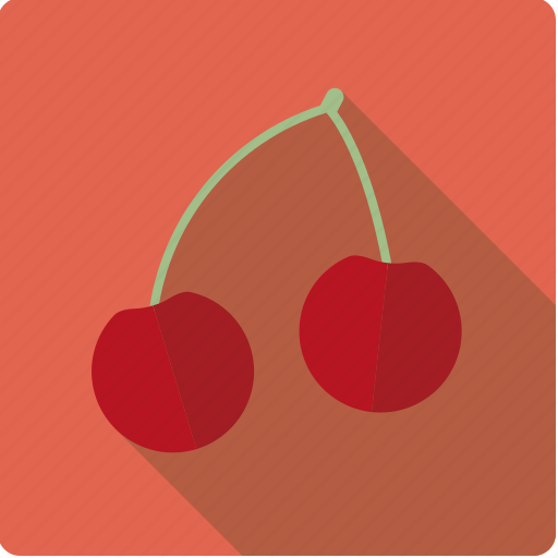 cherry, food, fruit, pair icon