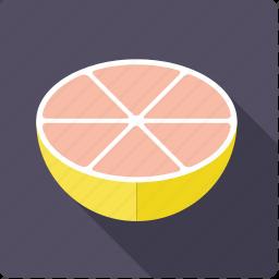 citrus, food, fruit, grapefruit, half icon