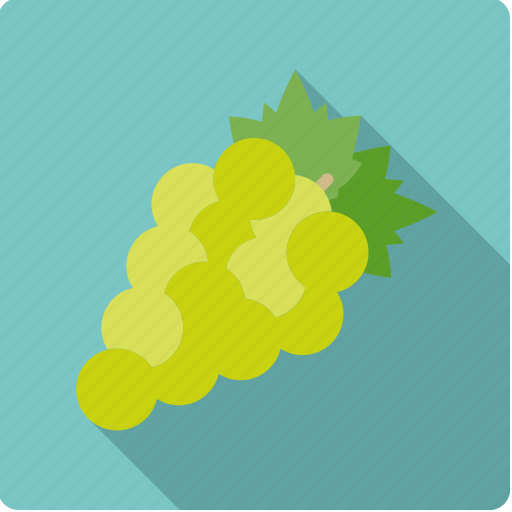 food, fruit, grapes, green, wine icon