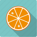 citrus, food, fruit, half, orange, slice icon
