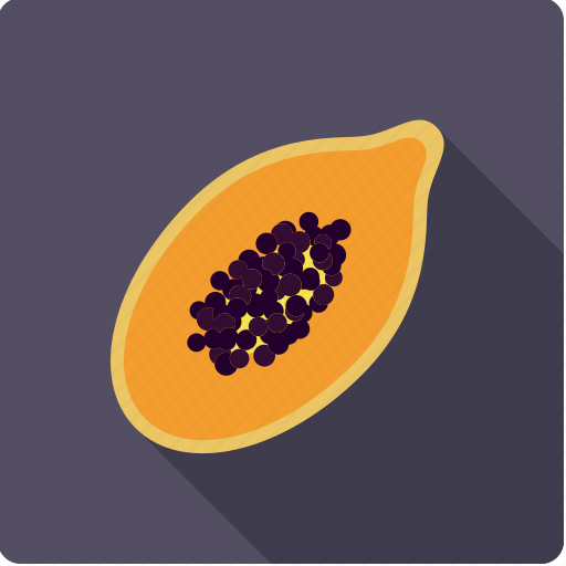 exotic, food, fruit, half, papaya, pawpaw, tropical icon