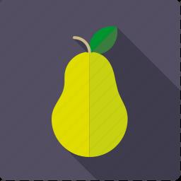 food, fruit, leaf, pear icon