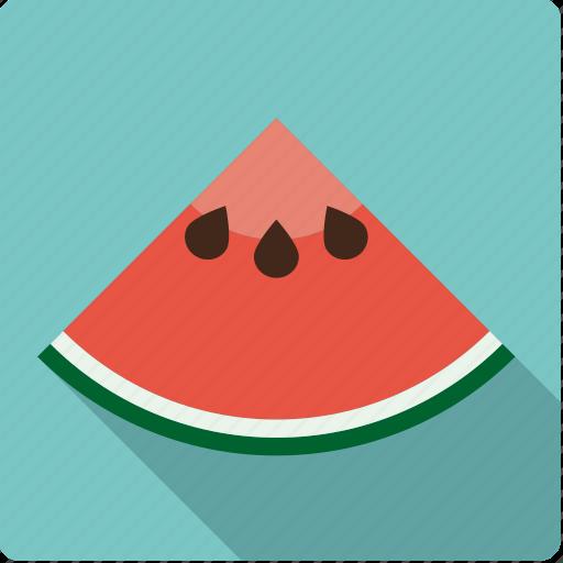 food, fruit, melon, piece, slice, watermelon icon