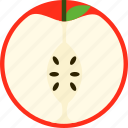 apple, dessert, food, fresh, fruit, meal, sweet icon