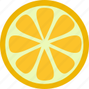 dessert, food, fresh, fruit, meal, orange, sweet icon