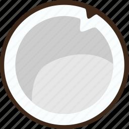 coconut, food, fresh, fruit, healthy, restaurant, sweet icon