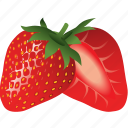 dessert, diet, eco, food, fresh, fruit, healthy, nutrition, strawberry, sweet, vegetarian icon