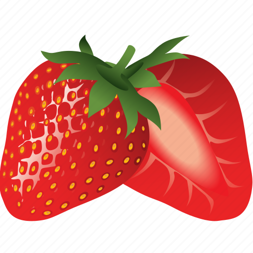 dessert, diet, eco, food, fresh, fruit, healthy, nutrition, strawberry, sweet, vegetarian icon