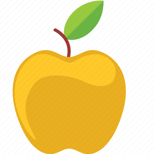 apple, dessert, diet, eco, food, fresh, fruit, healthy, nutrition, sweet, vegetarian, yellow icon