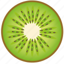 dessert, diet, eco, food, fresh, fruit, healthy, kiwi, nutrition, sweet, tropical, vegetarian icon