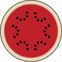 dessert, diet, eco, food, fresh, fruit, healthy, juicy, nutrition, sweet, vegetarian, watermelon icon