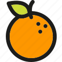 dessert, food, fruit, fruits, healthy, orange, organic icon