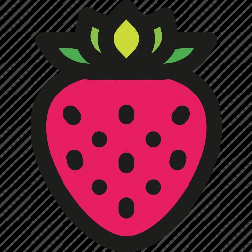 dessert, food, fruit, fruits, healthy, organic, strawberry icon